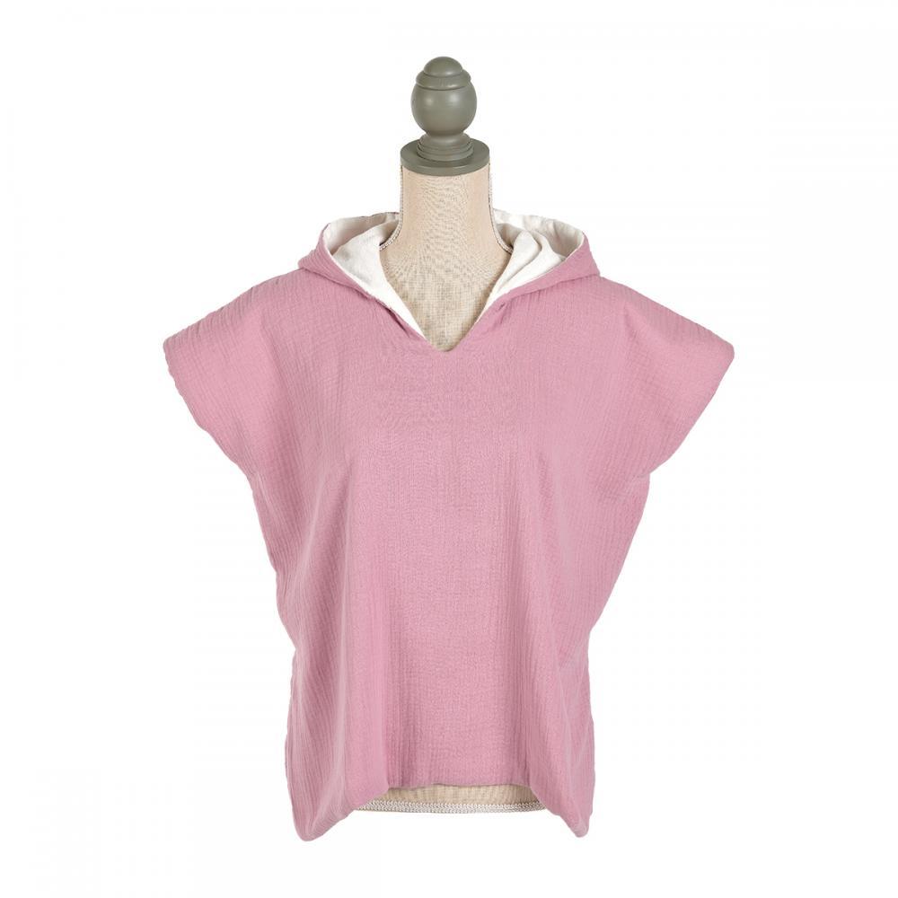 KraftKids Badeponcho Musselin rosa