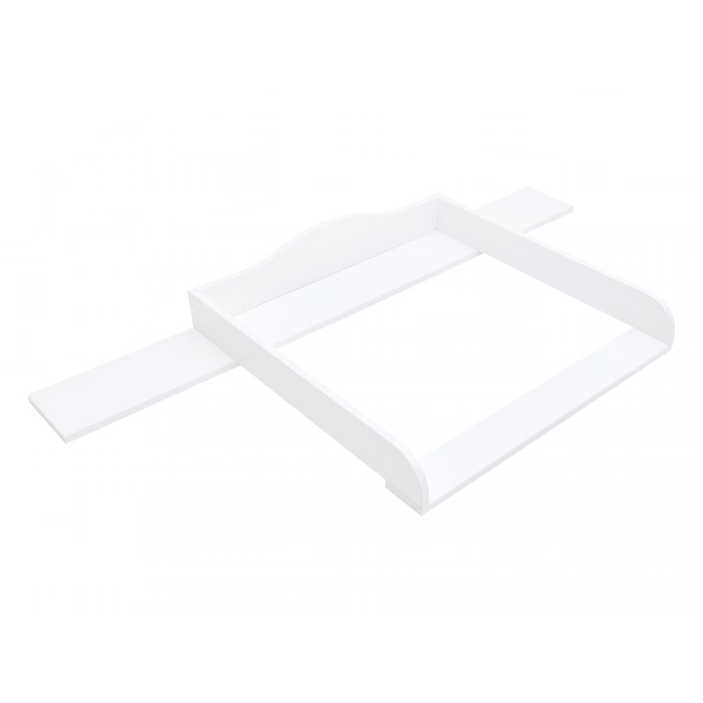 KraftKids Wickelaufsatz weiß passend für 160 cm breite IDANÄS Kommode Blende