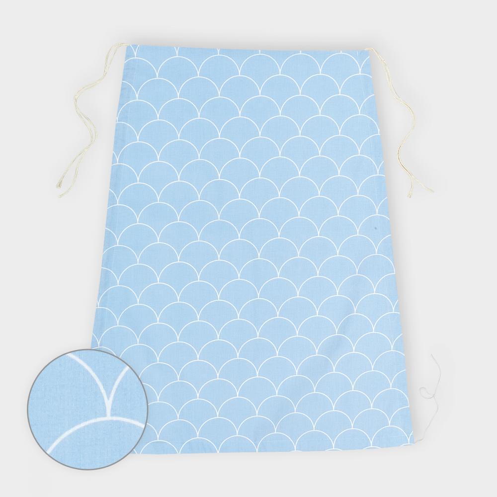 KraftKids Sonnensegel weiße Halbkreise auf Pastelblau