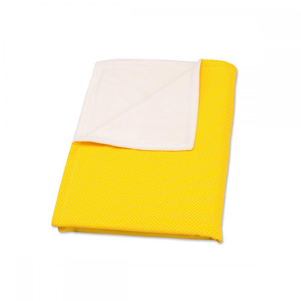 KraftKids Babydecke weiße Punkte auf Gelb