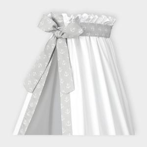 KraftKids Betthimmel weiße Anker auf Grau
