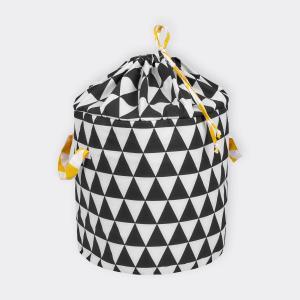 KraftKids Spielzeugkorb schwarze Dreiecke