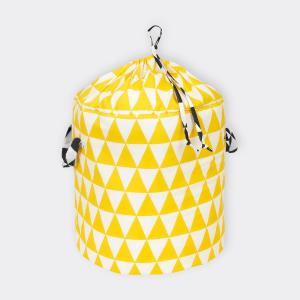 KraftKids Spielzeugkorb gelbe Dreiecke und schwarze Dreiecke