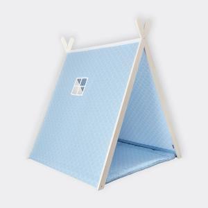 KraftKids Spielzelt weiße Halbkreise auf Pastelblau