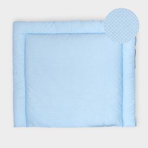 KraftKids Wickelauflage weiße Punkte auf Hellblau breit 78 x tief 78 cm z. B. für MALM oder HEMNES Kommodenaufsatz von KraftKids