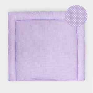 KraftKids Wickelauflage weiße Punkte auf Lila breit 60 x tief 70 cm passend für Waschmaschinen-Aufsatz von KraftKids