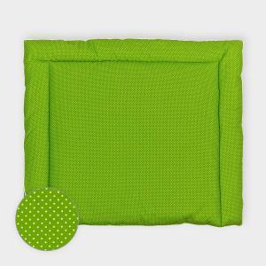 KraftKids Wickelauflage weiße Punkte auf Grün breit 78 x tief 78 cm z. B. für MALM oder HEMNES Kommodenaufsatz von KraftKids