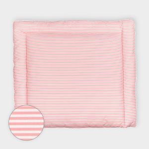 KraftKids Wickelauflage Streifen rosa breit 78 x tief 78 cm z. B. für MALM oder HEMNES Kommodenaufsatz von KraftKids