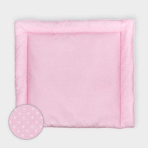 KraftKids Wickelauflage weiße Punkte auf Rosa breit 78 x tief 78 cm z. B. für MALM oder HEMNES Kommodenaufsatz von KraftKids