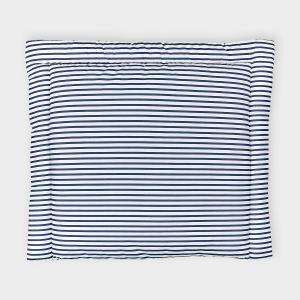 KraftKids Wickelauflage Streifen dunkelblau breit 78 x tief 78 cm z. B. für MALM oder HEMNES Kommodenaufsatz von KraftKids
