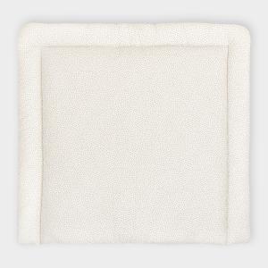 KraftKids Wickelauflage graue unregelmäßige Punkte auf Weiß breit 78 x tief 78 cm z. B. für MALM oder HEMNES Kommodenaufsatz von KraftKids