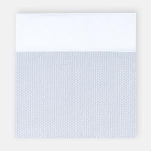 KraftKids Stilltuch kleine Blätter hellgrau auf Weiß