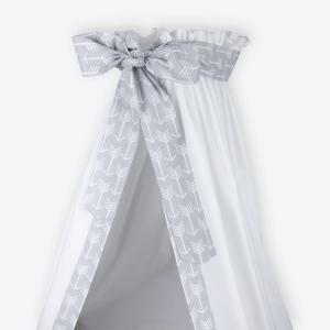 KraftKids Betthimmel weiße Pfeile auf Grau