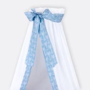 KraftKids Betthimmel weiße Pfeile auf Blau