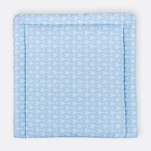 KraftKids Wickelauflage weiße Pfeile auf Blau breit 60 x tief 70 cm passend für Waschmaschinen-Aufsatz von KraftKids