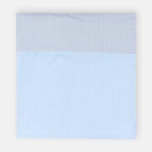 KraftKids Stilltuch kleine Blätter hellblau auf Weiß und kleine Blätter hellgrau auf Weiß