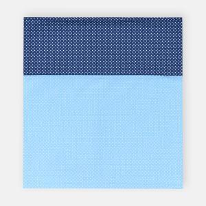 KraftKids Stilltuch weiße Punkte auf Hellblau und weiße Punkte auf Dunkelblau