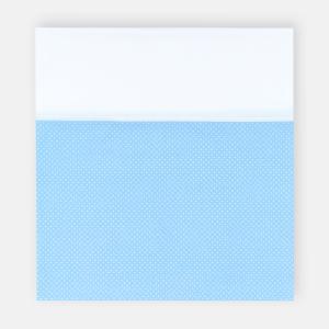 KraftKids Stilltuch Uniweiss und weiße Punkte auf Hellblau