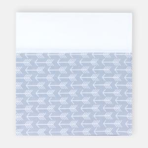 KraftKids Stilltuch weiße Pfeile auf Grau und Uniweiss