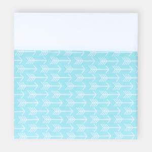 KraftKids Stilltuch weiße Pfeile auf Mint und Uniweiss
