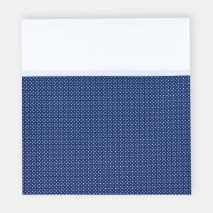 KraftKids Stilltuch Uniweiss und weiße Punkte auf Dunkelblau