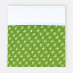 KraftKids Stilltuch Uniweiss und weiße Punkte auf Grün
