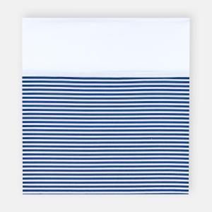 KraftKids Stilltuch Uniweiss und Streifen dunkelblau
