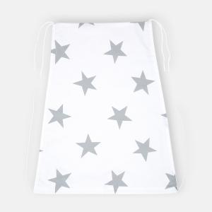 KraftKids Sonnensegel große graue Sterne auf Weiss