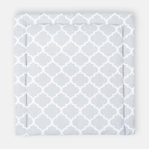 KraftKids Wickelauflage marokkanisches Klee grau breit 78 x tief 78 cm z. B. für MALM oder HEMNES Kommodenaufsatz von KraftKids