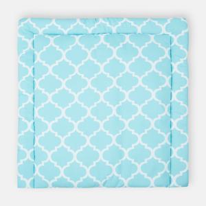 KraftKids Wickelauflage marokkanisches Klee türkis breit 60 x tief 70 cm passend für Waschmaschinen-Aufsatz von KraftKids