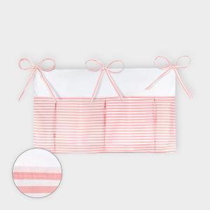 KraftKids Betttasche Streifen rosa