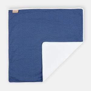 KraftKids Wickelunterlage weiße Punkte auf Dunkelblau 3 Lagen wasserundurchlässig weich Frotte 100% Baumwolle