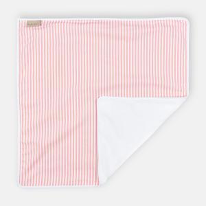 KraftKids Wickelunterlage Streifen rosa 3 Lagen wasserundurchlässig weich Frotte 100% Baumwolle