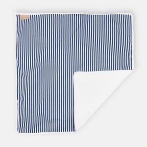 KraftKids Wickelunterlage Streifen dunkelblau 3 Lagen wasserundurchlässig weich Frotte 100% Baumwolle