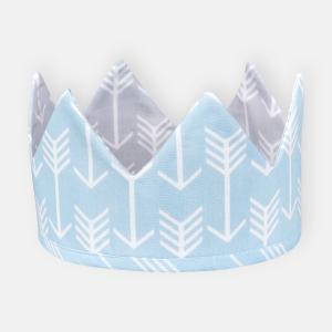 KraftKids Dekoration Stoffkrone weiße Pfeile auf Blau und weiße Pfeile auf Grau