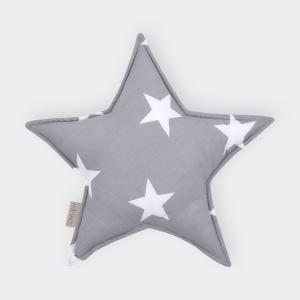 KraftKids Sternkissen große weiße Sterne auf Grau