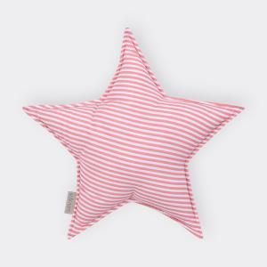 KraftKids Sternkissen Streifen rosa