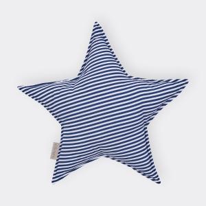 KraftKids Dekoration Sternkissen Streifen dunkelblau