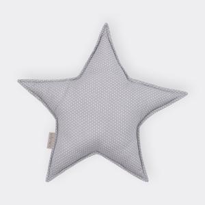 KraftKids Dekoration Sternkissen weiße Punkte auf Grau