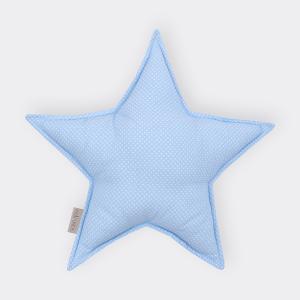 KraftKids Sternkissen weiße Punkte auf Hellblau