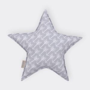 KraftKids Dekoration Sternkissen weiße Pfeile auf Grau