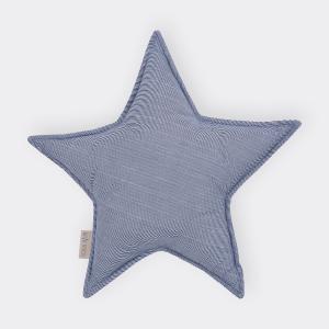 KraftKids Sternkissen dünne Streifen dunkelblau