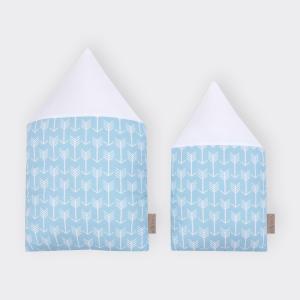 KraftKids Stoffhäuschen weiße Pfeile auf Blau Inhalt: ein kleines und großes Häuschen