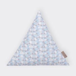 KraftKids Stoffdreieck kleine Dreiecke blau grau weiß