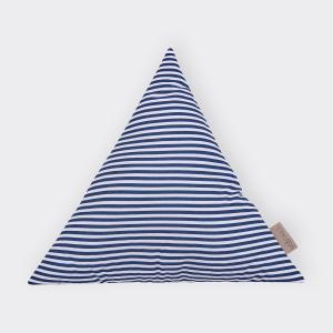 KraftKids Dekoration Stoffdreieck Streifen dunkelblau