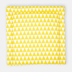 KraftKids Wickelauflage gelbe Dreiecke 85 cm breit x 75 cm tief