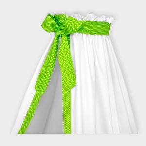 KraftKids Betthimmel weiße Punkte auf Grün
