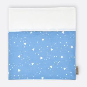 KraftKids Stilltuch abgerundete Dreiecke weiß auf Blau