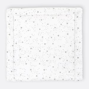 KraftKids Wickelauflage abgerundete Dreiecke grau breit 60 x tief 70 cm passend für Waschmaschinen-Aufsatz von KraftKids