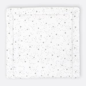 KraftKids Wickelauflage abgerundete Dreiecke grau breit 78 x tief 78 cm z. B. für MALM oder HEMNES Kommodenaufsatz von KraftKids